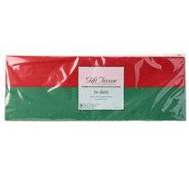 24 Red /& Green Christmas Tissue Paper Solid Colors