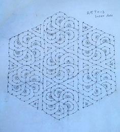 25 dots flower design with hexagon pattern Rangoli Patterns, Rangoli Designs Images, Rangoli Ideas, Rangoli Designs Diwali, Beautiful Rangoli Designs, Small Rangoli Design, Rangoli Designs With Dots, Rangoli With Dots, Simple Rangoli
