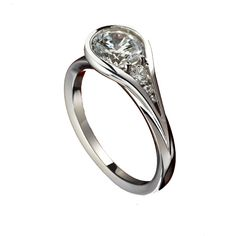 Greenwich Jewelers | Sholdt Bezel Teardrop Diamond Engagement Ring