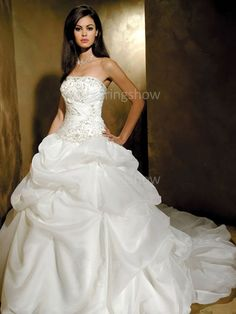 A-Line Strapless Wedding Dresses  Wholesale Price: US$151.99