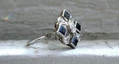 Hey, I found this really awesome Etsy listing at https://www.etsy.com/listing/465879844/gorgeous-platinum-diamond-and-sapphire