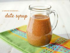 This Date Syrup is a natural sweetener that can be used the same way you use maple syrup! Recipe from myheartbeets.com