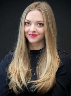 Celebrity Hairstyle Amanda Seyfried Long Straight Blonde 100% Human Hair Lace Front Wig 20 Inches