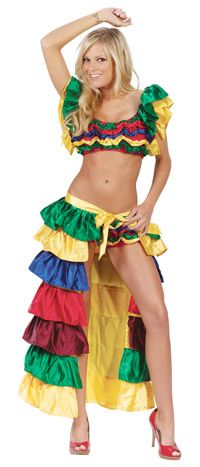 Sexy Cha Cha Girl Costume - Spanish Or Mexican Costumes