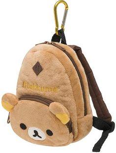 Rilakkuma Backpack Pouch $9.50 http://thingsfromjapan.net/rilakkuma-backpack-pouch/ #rilakkuma pouch #san x products #rilakkuma stuff