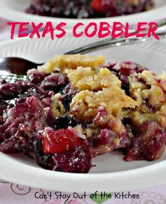 Texas cobbler... blueberry, cherry, pineapple, coconut, almonds... yes please!