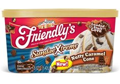 "Friendly's ""Sundae Xtreme"" Nutty Caramel Cone ice cream"