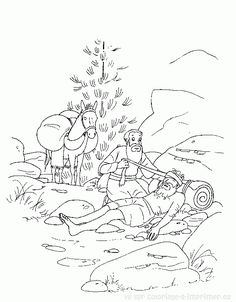 parable of the talents - coloring page | children's ministry ... - Good Samaritan Coloring Pages