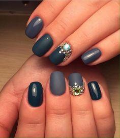 Evening dress nails, Evening nails, Evening nails by gel polish, Gray shellac…