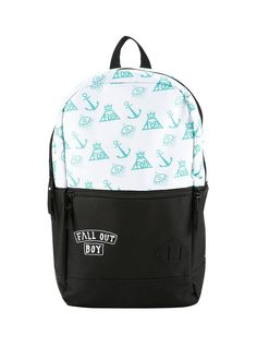 Irresistible backpack // Fall Out Boy Mint Anchor Print Backpack