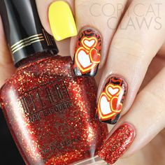Copycat Claws: Valentine's Day Skittlette Nails