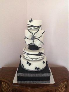 Black And White Bling Wedding Cake | Craftsy
