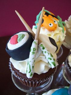 Sushi cupcake by ~see-through-silence on deviantART