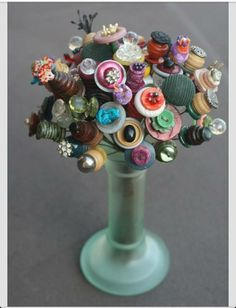Button Flowers...so cute!