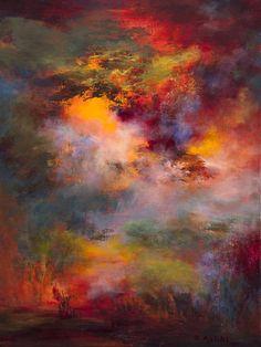 """Saatchi Art Artist Rikka Ayasaki; Painting, """"Passions, twilight 7008-A (Dyptich)"""" #art"""