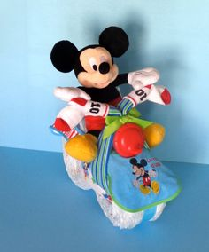 Mickey Mouse Bike  Diaper Motorcycle  Boy by PamperedBabyCreation, $65.00