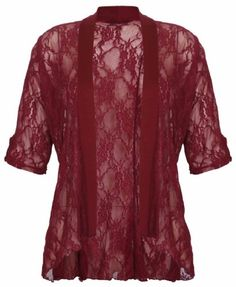 Purple Hanger PurpleHanger Women's Floral Lace Cardigan Top Plus Size