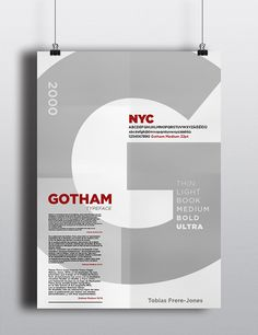 Gotham Font Specimen on Behance