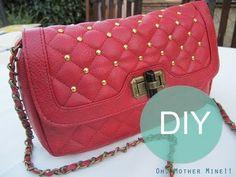 DIY Bolso tachuelas vintage / DIY vintage studded bag