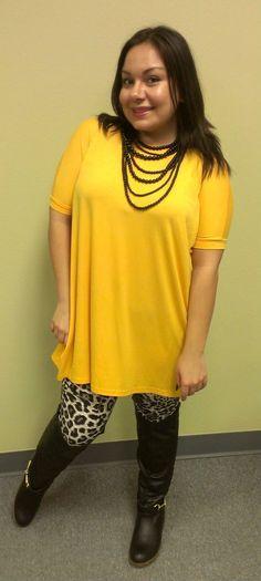 Yellow short sleeve piko dress