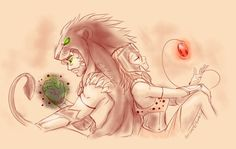 Heracles and Hyppolitia by Ferisae