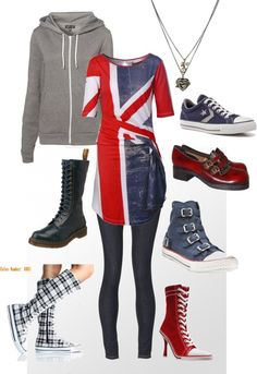 Union Jack + a bit of punk attitude. Influenced by UK street style. Wardrobe Planner, Capsule Wardrobe, Uk Street Style, Style Me, Cool Style, Get Dressed, Style Guides, Attitude, London