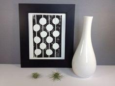Noir et blanc Mid Century Modern linogravure par RetroModernArt