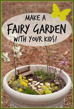 Make a Fairy Garden with Your Kids. From seejamieblog.com.