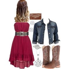Untitled *spring/summer* ropa vaquera, moda vaquera, ve Country Style Outfits, Country Dresses, Country Fashion, Country Prom, Country Wear, Country Casual, Country Western Outfits, Cowgirl Outfits, Country Outfits