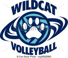 Vector - wildcat volleyball - stock illustration, royalty free illustrations, stock clip art icon, stock clipart icons, logo, line art, EPS picture, pictures, graphic, graphics, drawing, drawings, vector image, artwork, EPS vector art