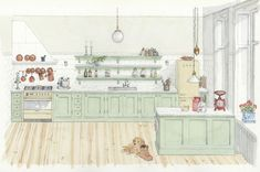 Willers Restaurering Kitchen Dining, Dining Room, Kitchen Interior, Gallery Wall, Frame, House, Sims, Home Decor, Kitchen