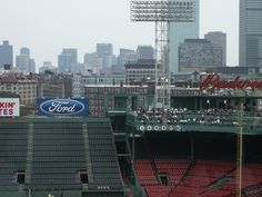 View from the Press Box, Fenway Park - 2004