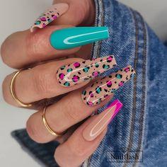 Chic Nails, Glam Nails, Stylish Nails, Trendy Nails, Beauty Nails, Perfect Nails, Gorgeous Nails, Leopard Print Nails, Daily Nail