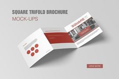 Square Trifold Brochure Mockup by graphiccrew on @creativemarket