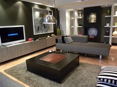 media unit, inspiration for buffet  Modern Living Room Design Ideas, Pictures, Remodel, and Decor - page 35