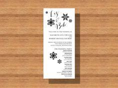 #WinterWedding Collection, #Snowflakes #Wedding #Program Printable Wedding Program by WeddingsByJamie on Etsy