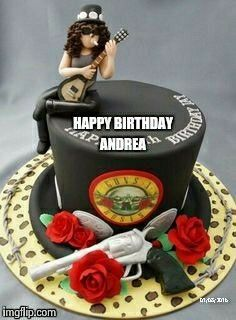 Guns and roses cake (Andrea)