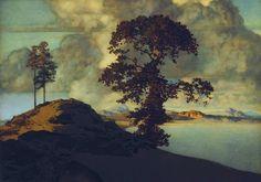 Atlas Landscape – Maxfield Parrish (1870–1966)