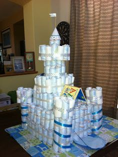 Frida's Baby Shower! (and the Diaper Castle)