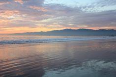 looking at santa monica from venice beach.