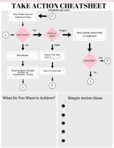 Free Take Action Cheatsheet - Get Things Done