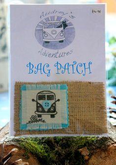 vw split screen camper bag patch by AudreysAdventures