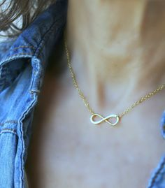 14k Gold Filled Infinity Necklace, Infinity Pendant, Mothers Necklace, Family Necklace, Sister Friendship Jewellery, Bridesmaid Gift by LetItBeLove on Etsy