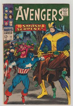 Avengers Vol 1 33 Silver Age Comic Book. by RubbersuitStudios #avengers #blackwidow #comicsforsale
