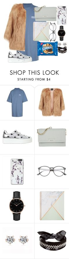 """""""Untitled #164"""" by diankounicorn ❤ liked on Polyvore featuring Vetements, Pinko, Kenzo, DKNY, Topshop and Fallon"""