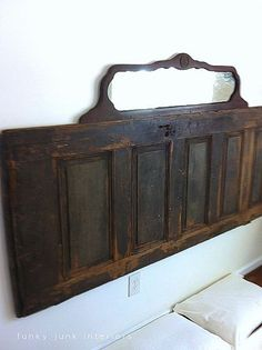 Old door, mirror... perfect prim headboard