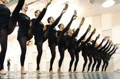 Dancers from the Radio City Rockettes rehearse for the 2012 edition of the Radio City Christmas Spectacular in New York.