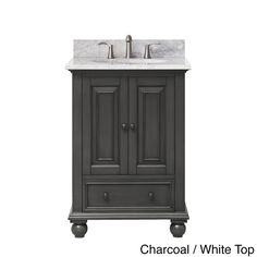 Luxury White Bathrooms24 avanity thompson french white 24-in traditional bathroom vanity