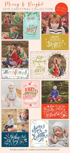 October freebie and New Christmas designs | Photoshop templates for photographers by Birdesign