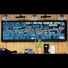 Chalk markers menu @fidel_bar Sopot. #chalkboard #chalk #chalklettering…